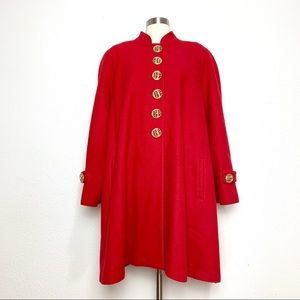 Vintage Red Wool Coat 14